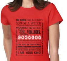 Crowley - Quotes Womens Fitted T-Shirt