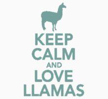 Keep Calm and Love Llamas by Alex Hendricks