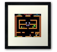 Bubble Bobble Level (vector image - not 8bit) Framed Print