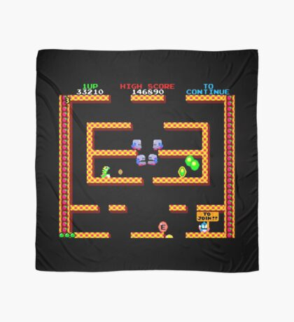 Bubble Bobble Level (vector image - not 8bit) Scarf
