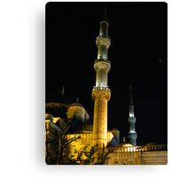 The minaret of the Blue Mosque Canvas Print
