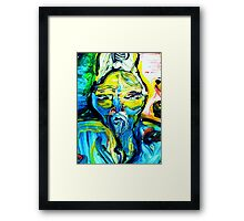 fragment CRIMINAL BUDDHA - tempera, acrylic, paper Framed Print