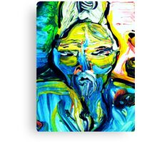 fragment CRIMINAL BUDDHA - tempera, acrylic, paper Canvas Print