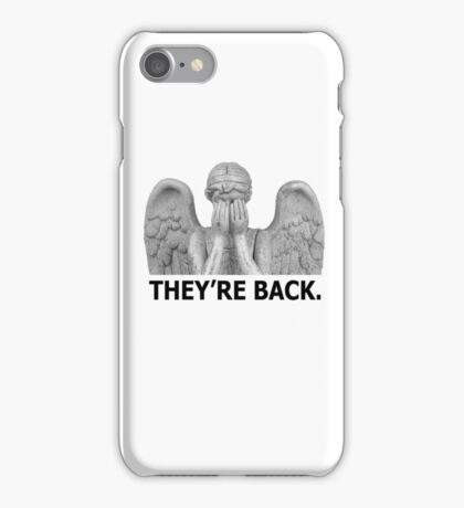 Doctor Who | Weeping Angel (Black) iPhone Case/Skin