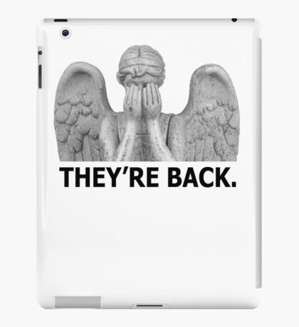Doctor Who | Weeping Angel (Black) iPad Case/Skin