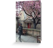 Statue in front of Canongate Kirk, Edinburgh Greeting Card