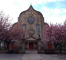 Canongate Kirk, on Edinburgh's Royal Mile.   by LBMcNicoll