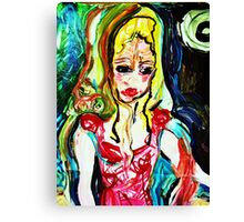 fragment HELENA AND BACCHUS - tempera, acrylic, paper  Canvas Print