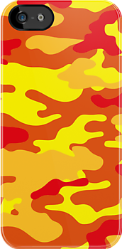 Camouflage iPhone Case & iPad Case (Fire) by MrFaulbaum