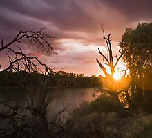 Amazing sunrise over the Murray River by Martin Stringer
