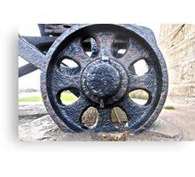 Cannon Wheel Metal Print