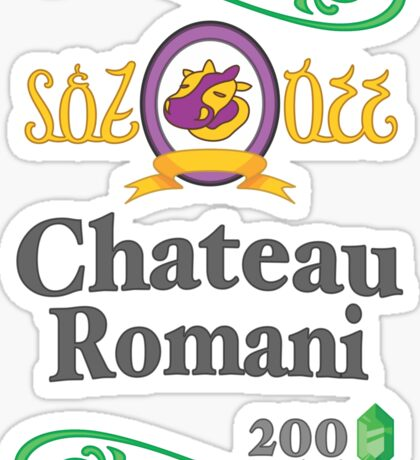 Chateau Romani (Light Shirt) Sticker