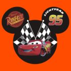 Mickey Mouse with Lightning McQueen from Cars by sweetsisters