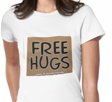 FREE HUGS!!!  -card Womens Fitted T-Shirt