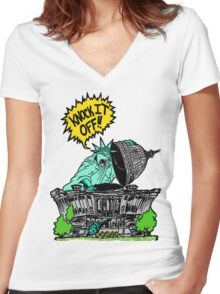 Knock it Off Washington! Women's Fitted V-Neck T-Shirt