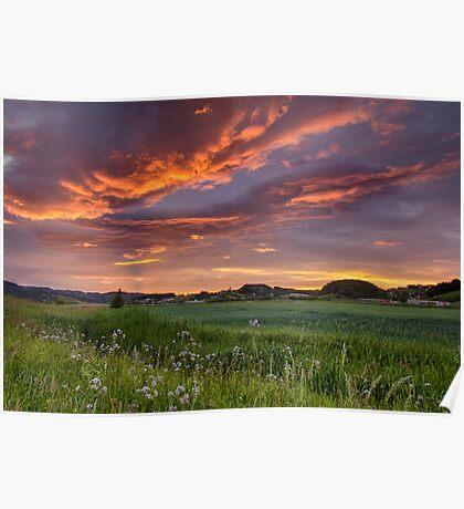 Sunset colour splash Poster