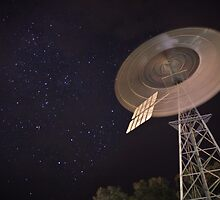 Southern Cross Windmill Starry Night in Australia by Martin Stringer