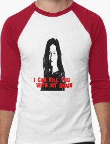 Kill You With My Brain Men's Baseball ¾ T-Shirt