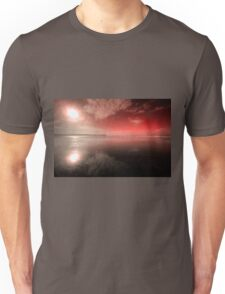 Woolacombe Beach in red  Unisex T-Shirt
