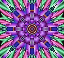 Decorative colourful kaleidoscope by walstraasart