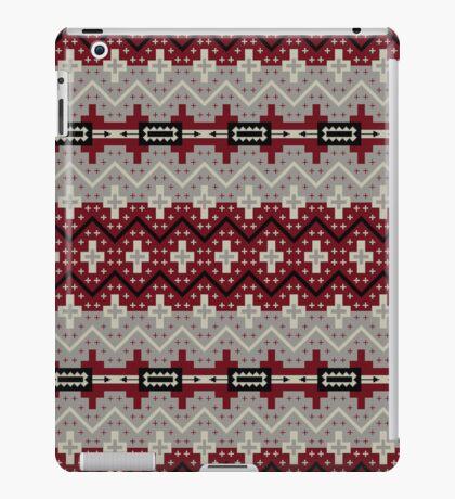 Maroon and Grey Aztec Art iPad Cover iPad Case/Skin