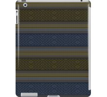 Blue and Grey Fabric Look iPad Case iPad Case/Skin