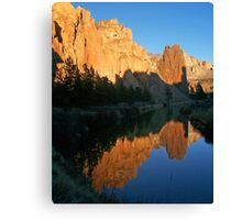 Smith Rock State Park Reflected in Crooked River Canvas Print