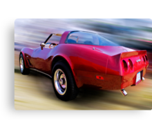 Red 81 Vette Canvas Print