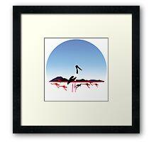 "Day 149 | 365 Day Creative Project  ""Jabiru & Kangaroos"" Framed Print"