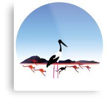 "Day 149 | 365 Day Creative Project  ""Jabiru & Kangaroos"" Metal Print"