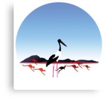 "Day 149 | 365 Day Creative Project  ""Jabiru & Kangaroos"" Canvas Print"