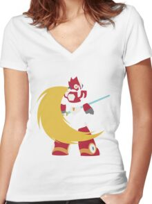 Zero  Women's Fitted V-Neck T-Shirt