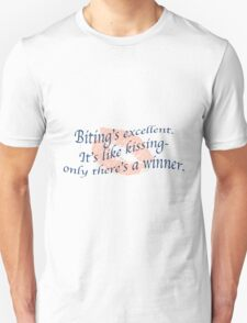 Doctor Who- Biting is like Kissing T-Shirt