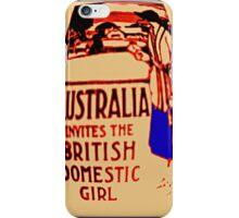 Australia invites the British domestic girl  iPhone Case/Skin