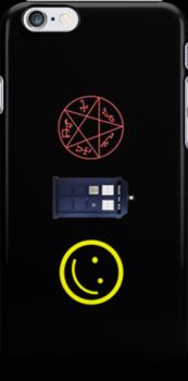 SuperWhoLock iPhone Case 3 by rycbar321
