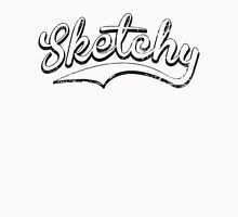Sketchy blk Womens Fitted T-Shirt