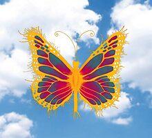 'FlutterBy - Orange' by STUDIO 88 TARANAKI NZ