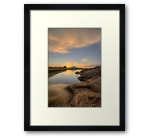 Sunset Bumps Framed Print