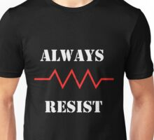 Resist in White text Unisex T-Shirt