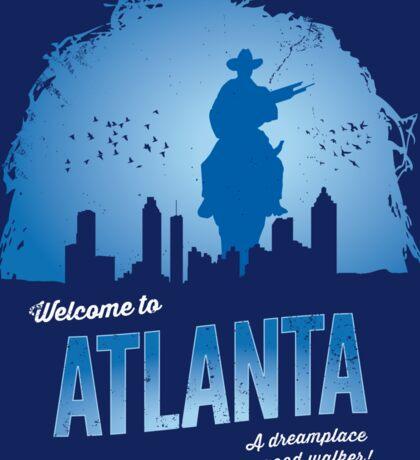 Welcome To Atlanta (blue) Sticker