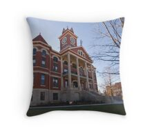 Butler County, Kansas Courthouse Throw Pillow