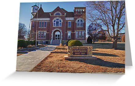 Rush County, Kansas, Courthouse by oakleydo