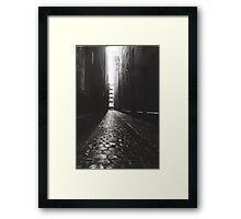 Melting Into Darkness Framed Print