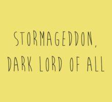 Stormageddon, Dark Lord of All Kids Tee