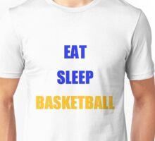 EAT SLEEP BASKETBALL Warriors Colors Unisex T-Shirt