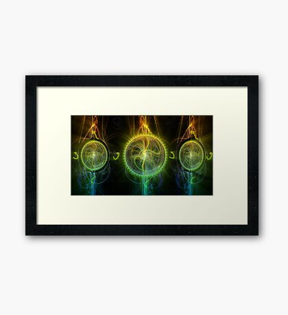 ©DA Fractal Time Framed Print