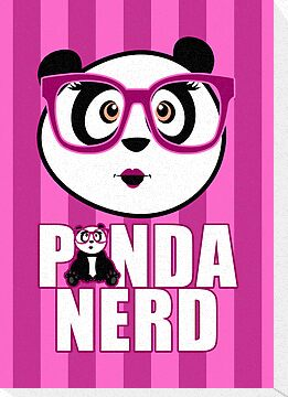 Panda Nerd Girl - Purple by Adamzworld