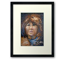 Portrait of a celebrated woman Framed Print