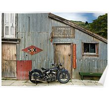 Indian Chout at the old Okains Bay Garage Poster