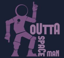 Funky Dancing Outta Spaceman Graphic Kids Tee